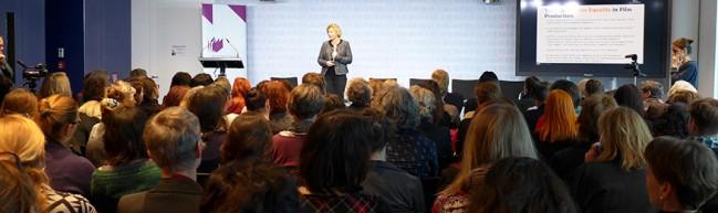 """Anna Serner vom Swedish Film Institute beim Panel """"Get Networked Up"""""""